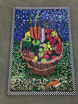 Mosaic at a grocery store in Mt Air, NM