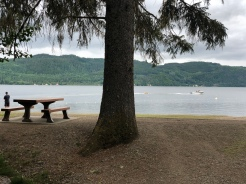 Lakelse Lake in Terrace, BC is another rainforest campground.. The trails were closed on account of bear sightings